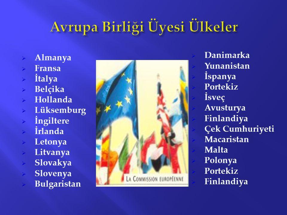 Avrupa Birliği Üyesi Ülkeler