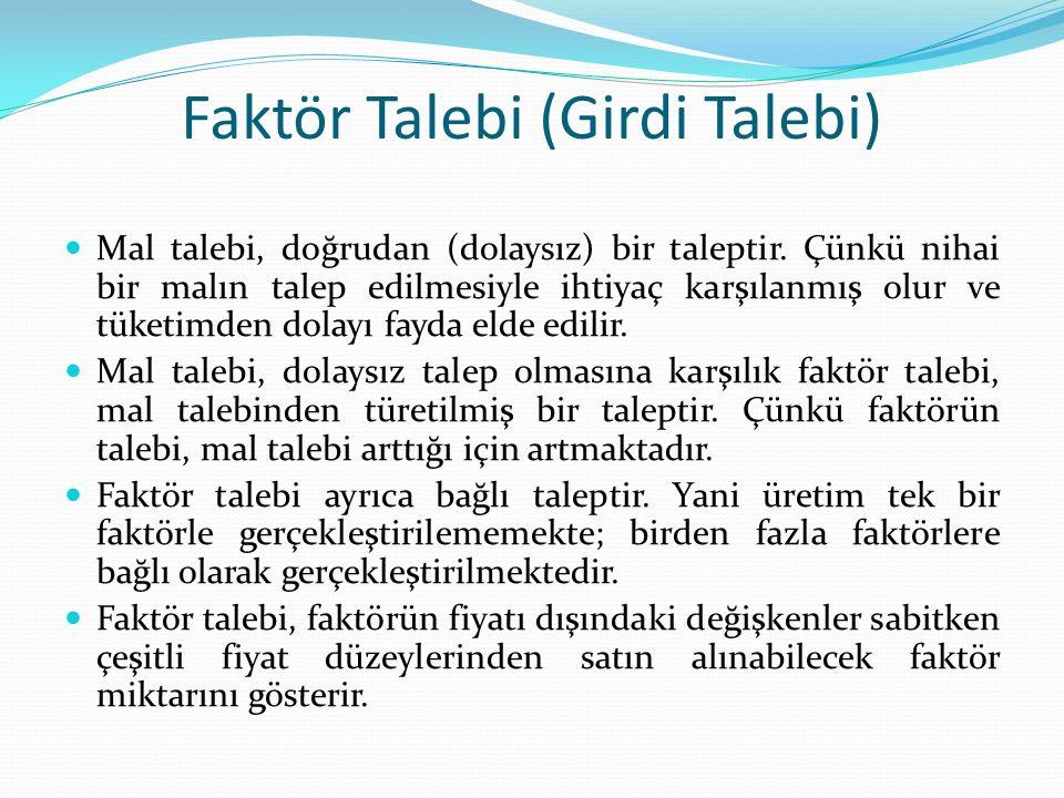 Faktör Talebi (Girdi Talebi)
