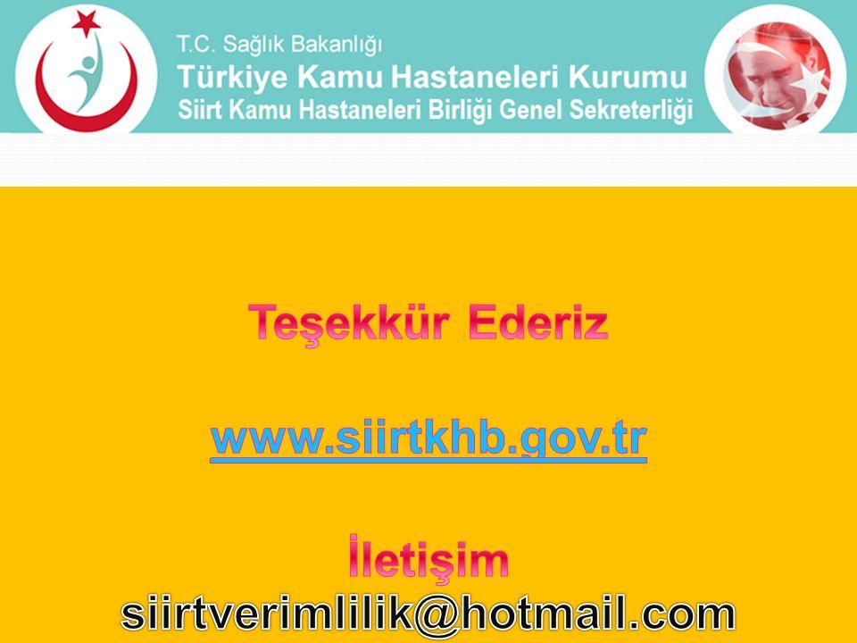 Teşekkür Ederiz www.siirtkhb.gov.tr İletişim siirtverimlilik@hotmail.com