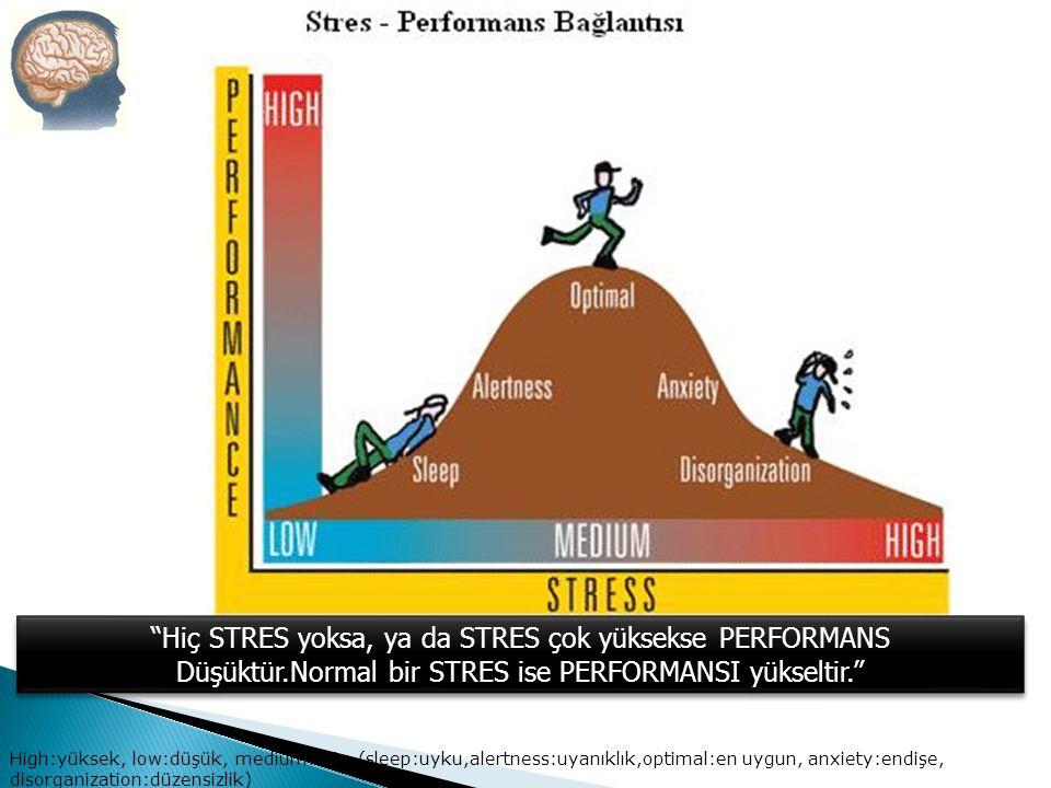 Hiç STRES yoksa, ya da STRES çok yüksekse PERFORMANS