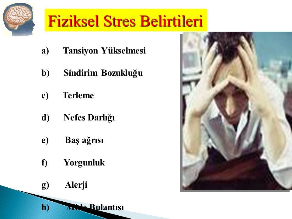 Fiziksel Stres Belirtileri