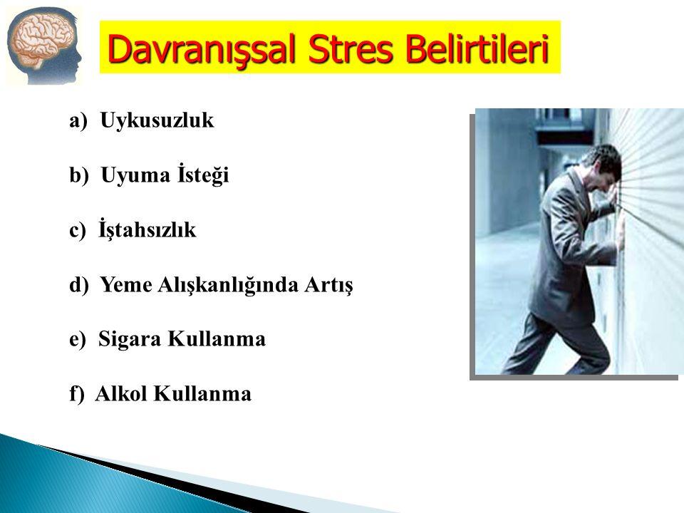 Davranışsal Stres Belirtileri