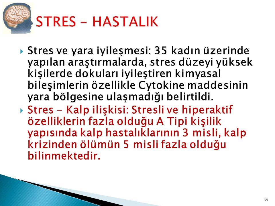 STRES - HASTALIK