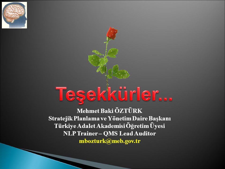 Teşekkürler... Mehmet Baki ÖZTÜRK