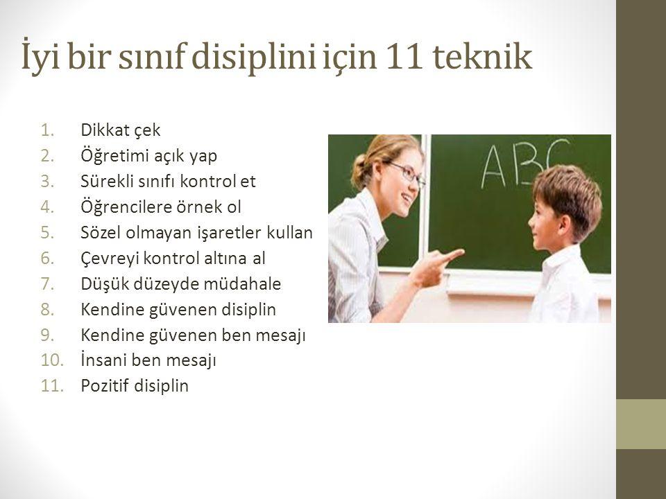 İyi bir sınıf disiplini için 11 teknik