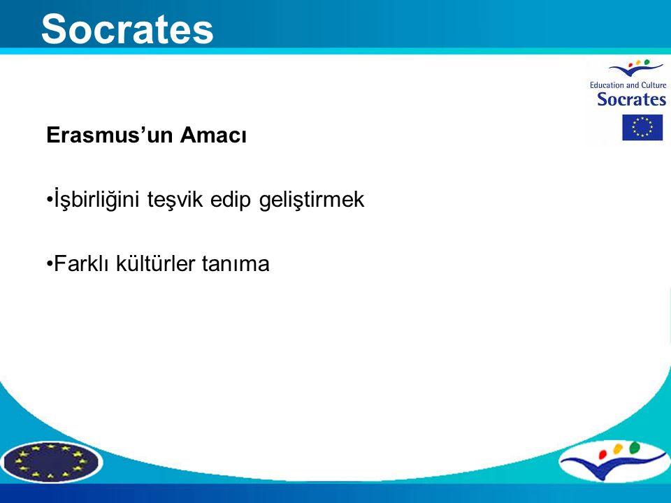 Socrates Erasmus'un Amacı İşbirliğini teşvik edip geliştirmek
