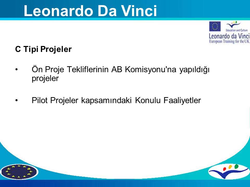 Leonardo Da Vinci C Tipi Projeler