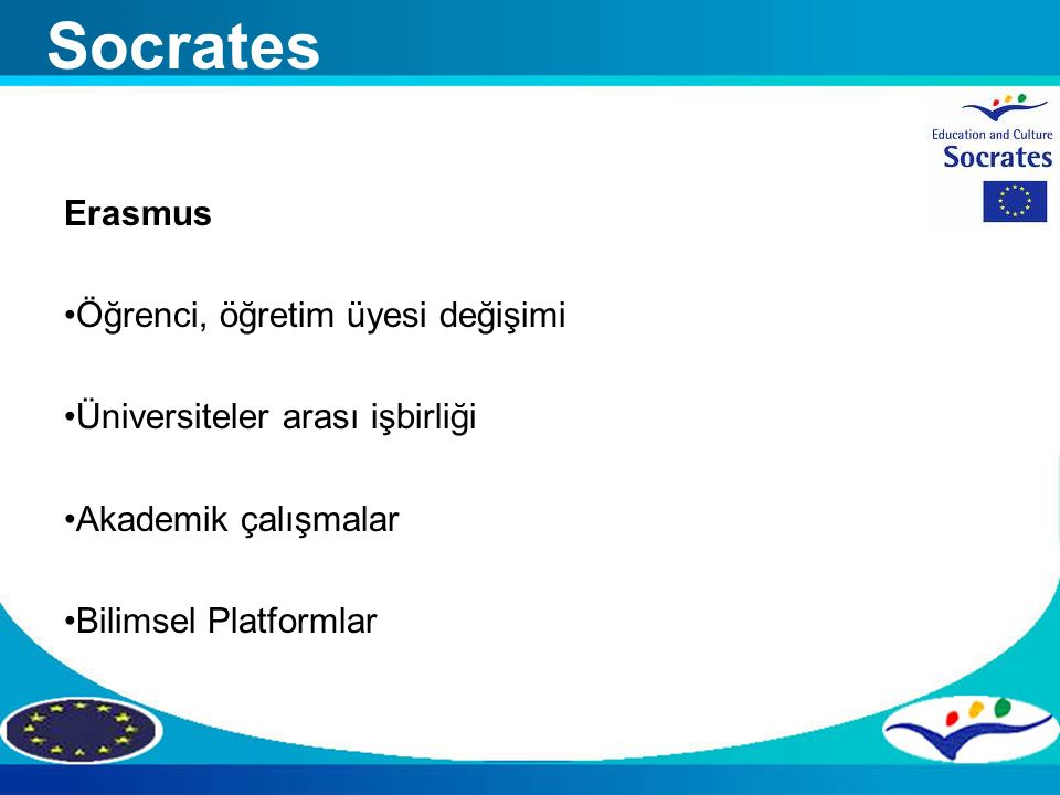 Socrates Erasmus Öğrenci, öğretim üyesi değişimi