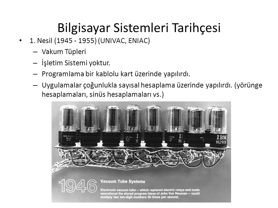 Bilgisayar Sistemleri Tarihçesi