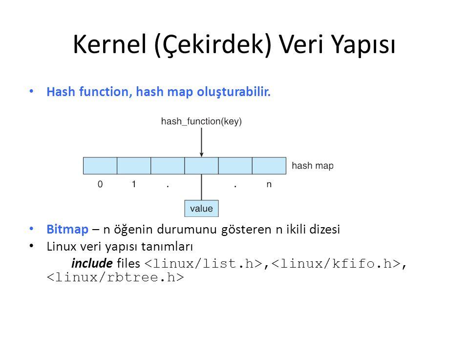 Kernel (Çekirdek) Veri Yapısı