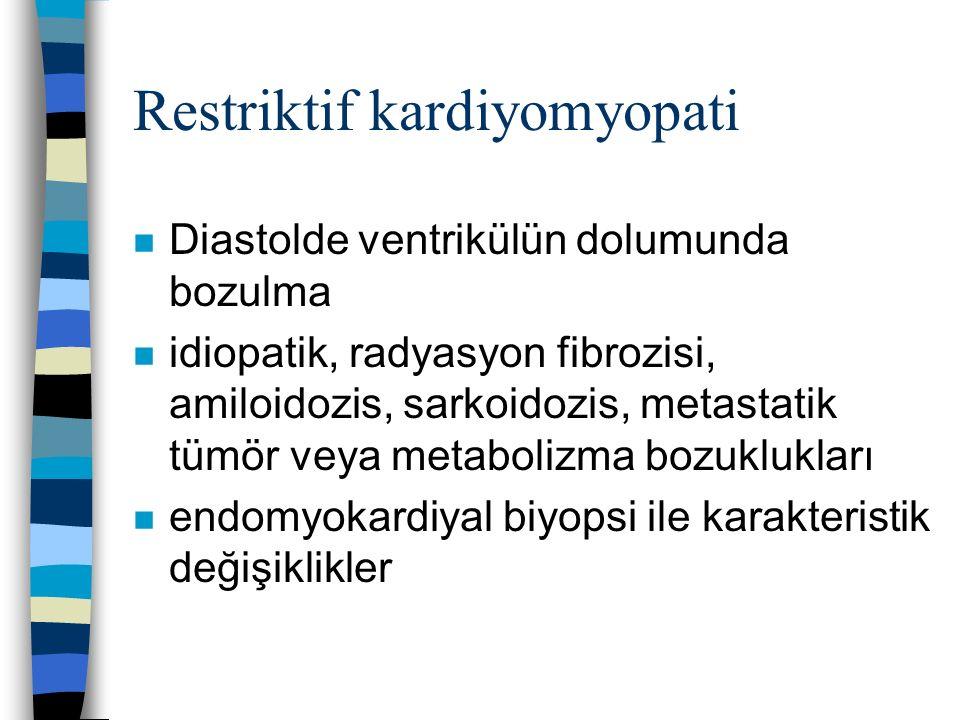 Restriktif kardiyomyopati