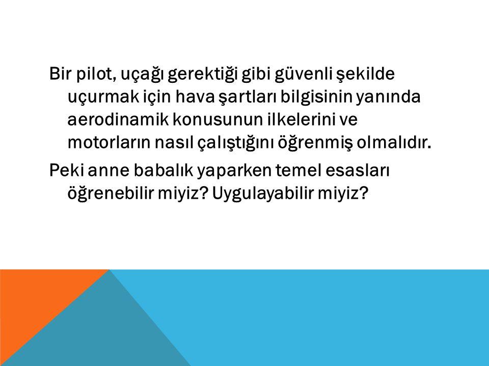 Bir pilot, uçağı gerektiği gibi güvenli şekilde uçurmak için hava şartları bilgisinin yanında aerodinamik konusunun ilkelerini ve motorların nasıl çalıştığını öğrenmiş olmalıdır.