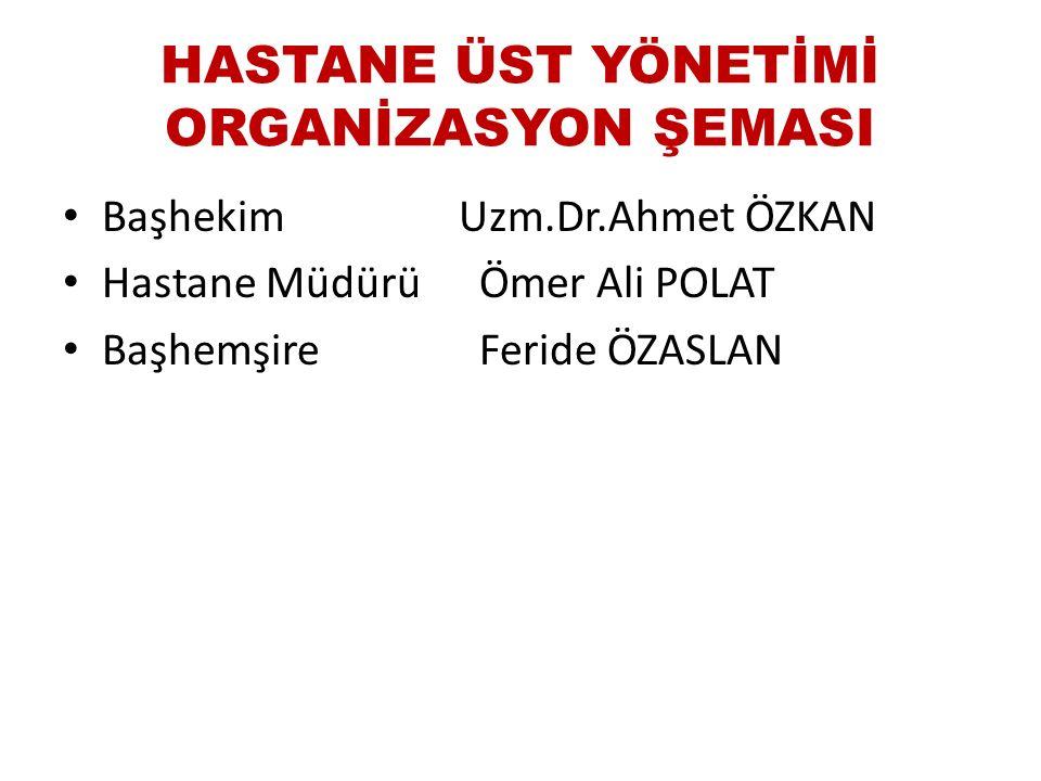 HASTANE ÜST YÖNETİMİ ORGANİZASYON ŞEMASI