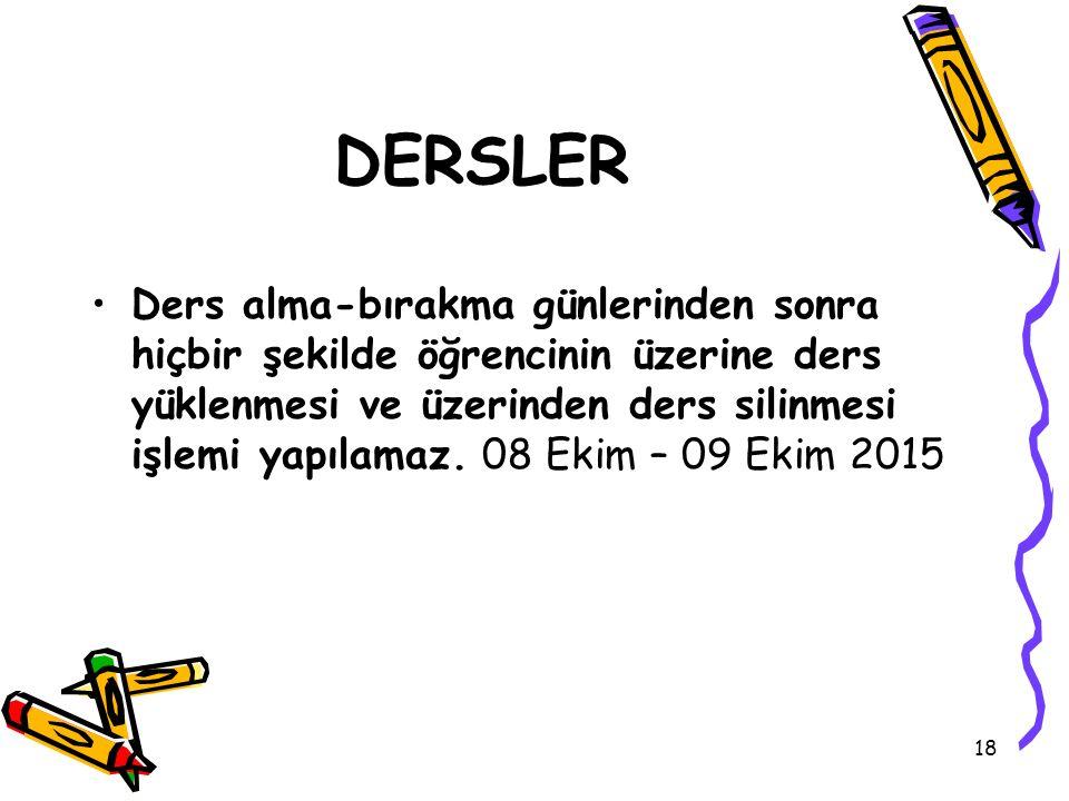DERSLER