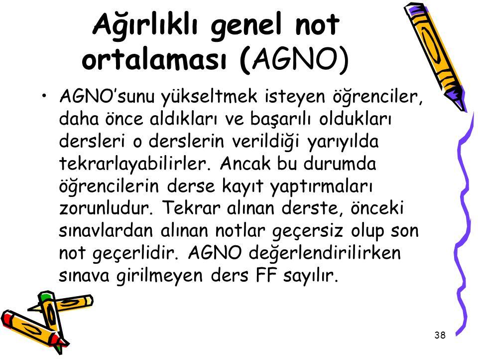 Ağırlıklı genel not ortalaması (AGNO)