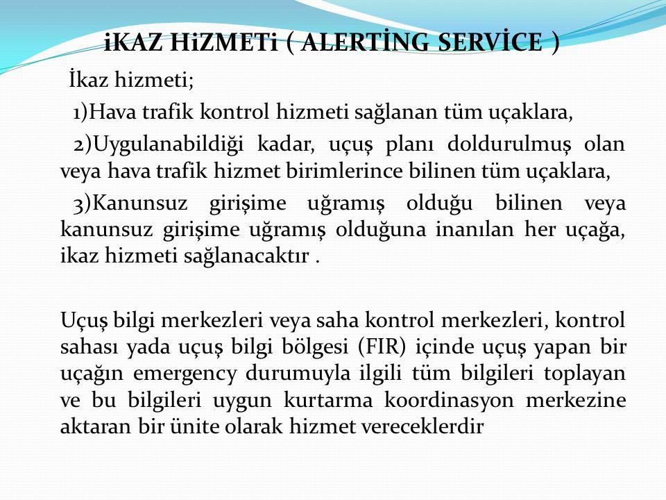 iKAZ HiZMETi ( ALERTİNG SERVİCE )