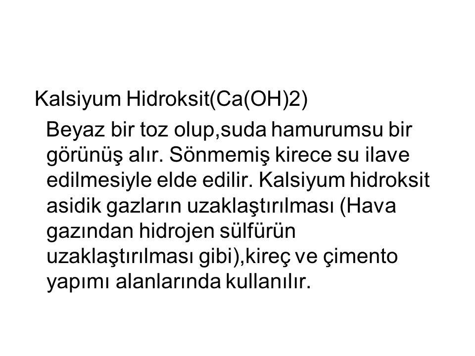Kalsiyum Hidroksit(Ca(OH)2)