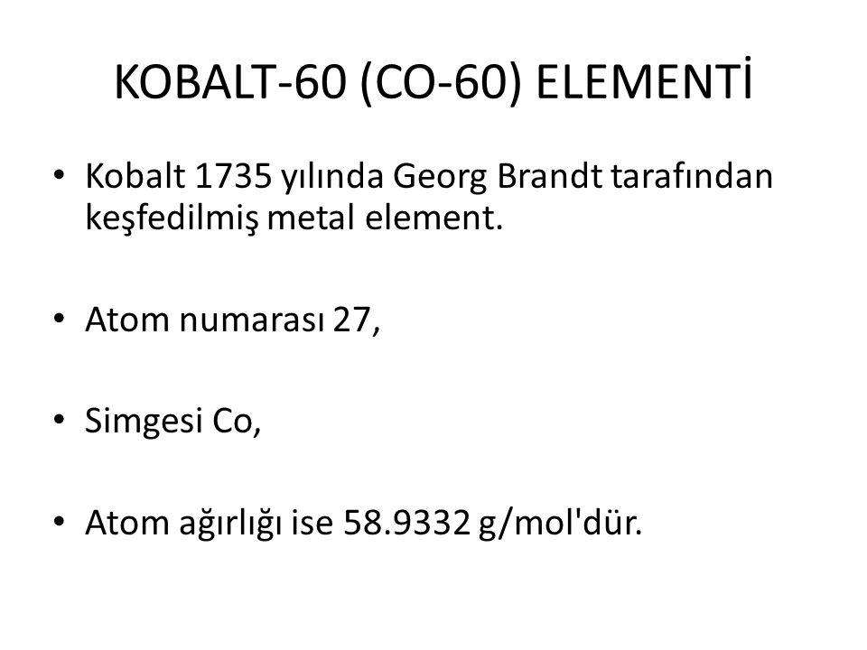 KOBALT-60 (CO-60) ELEMENTİ