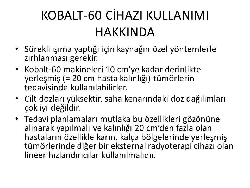 KOBALT-60 CİHAZI KULLANIMI HAKKINDA