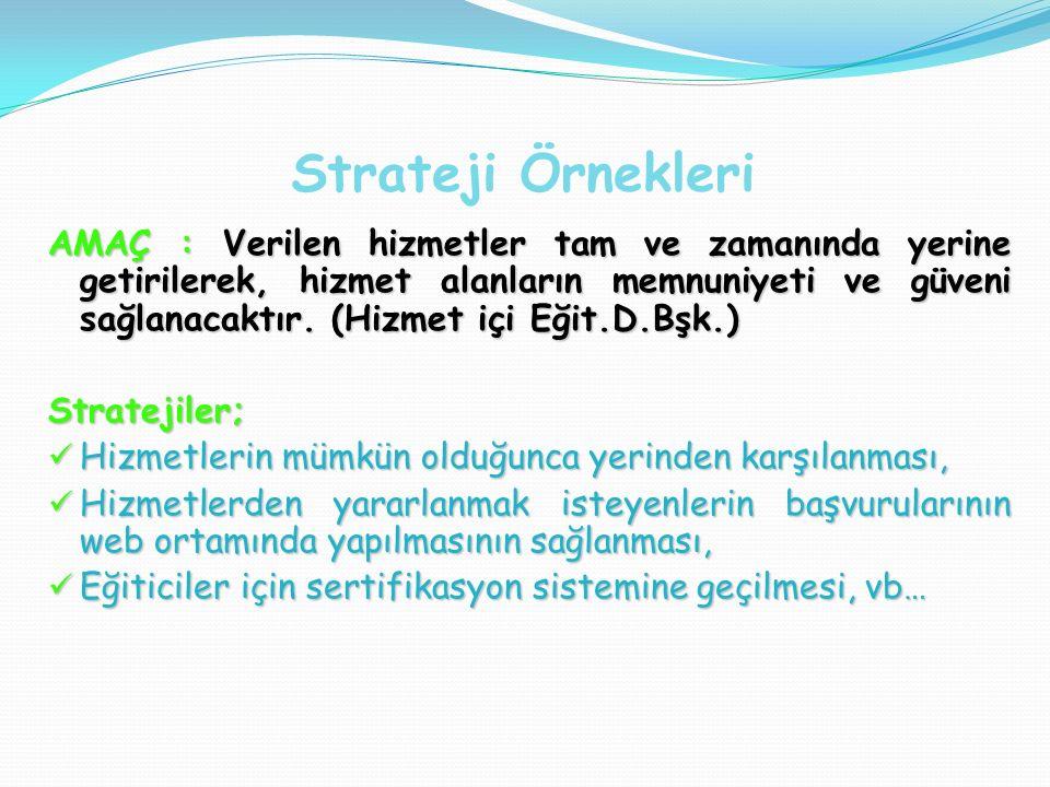 Strateji Örnekleri
