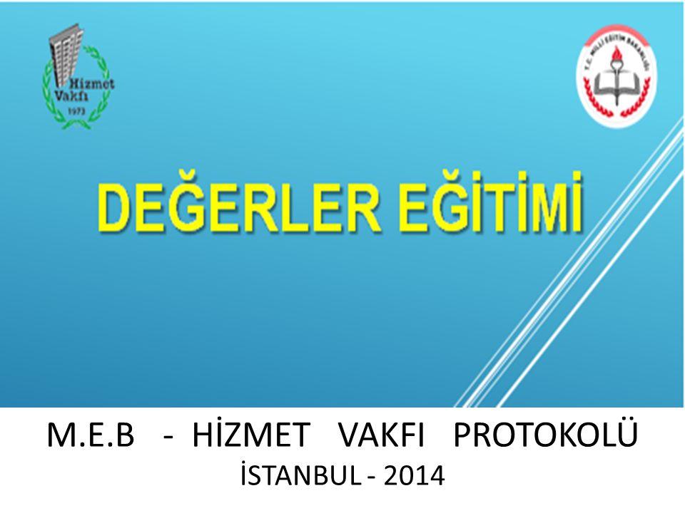 M.E.B - HİZMET VAKFI PROTOKOLÜ