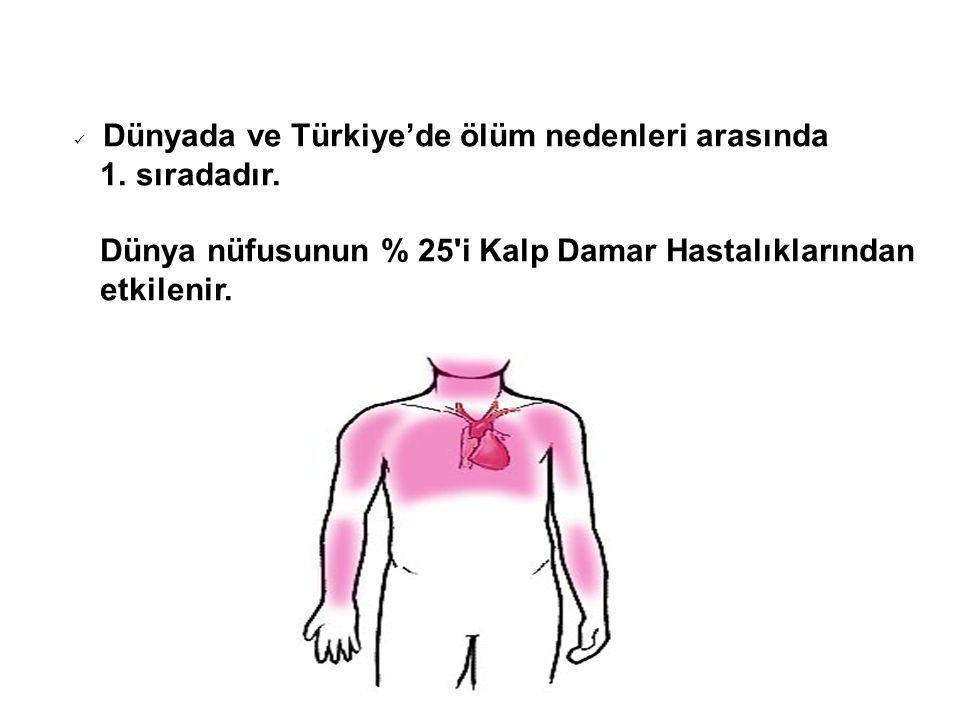 Dünyada ve Türkiye'de ölüm nedenleri arasında