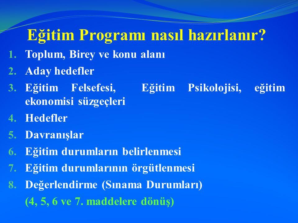 Eğitim Programı nasıl hazırlanır