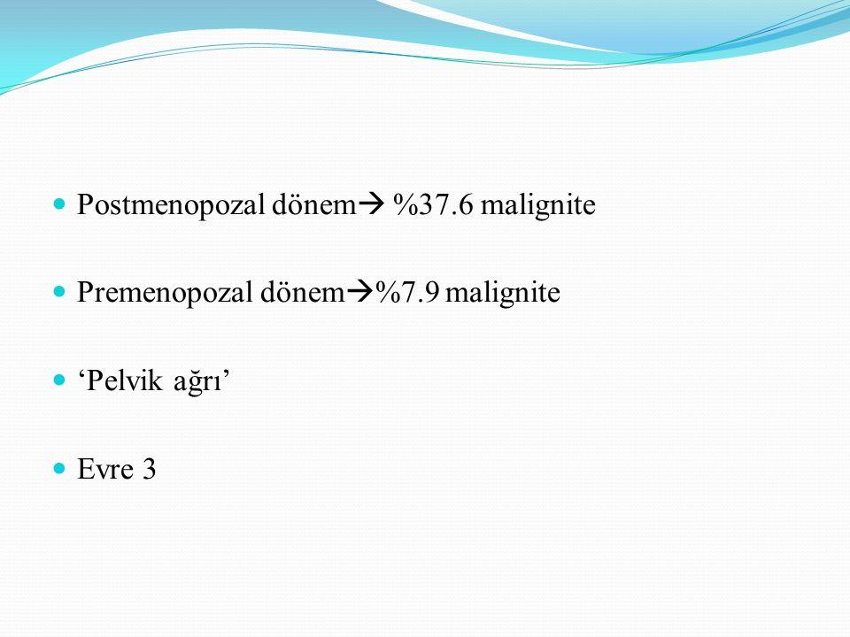 Postmenopozal dönem %37.6 malignite