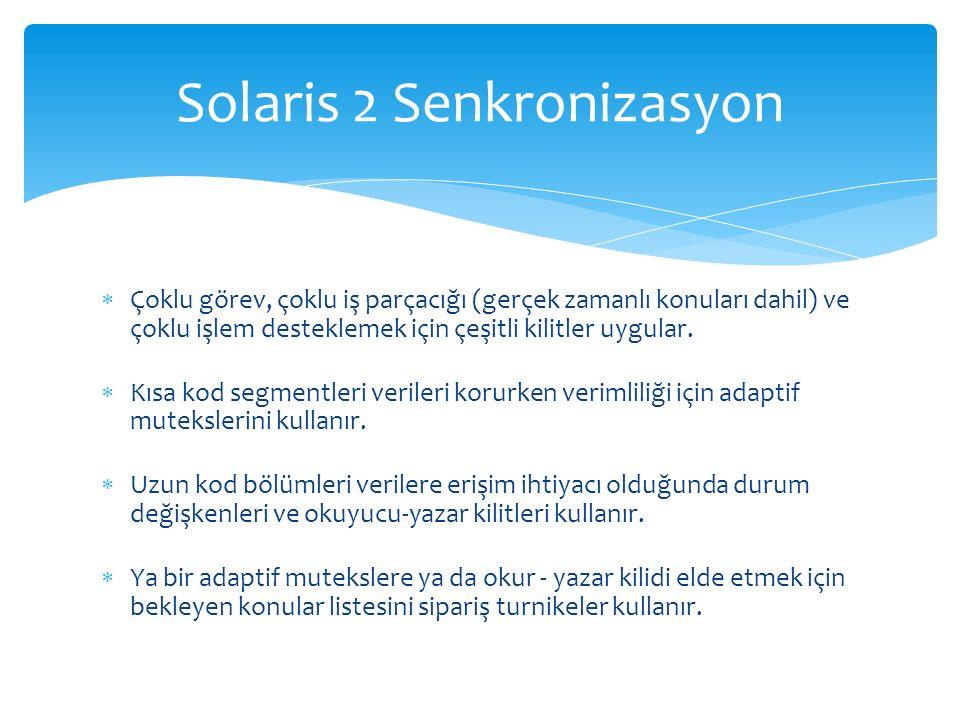 Solaris 2 Senkronizasyon