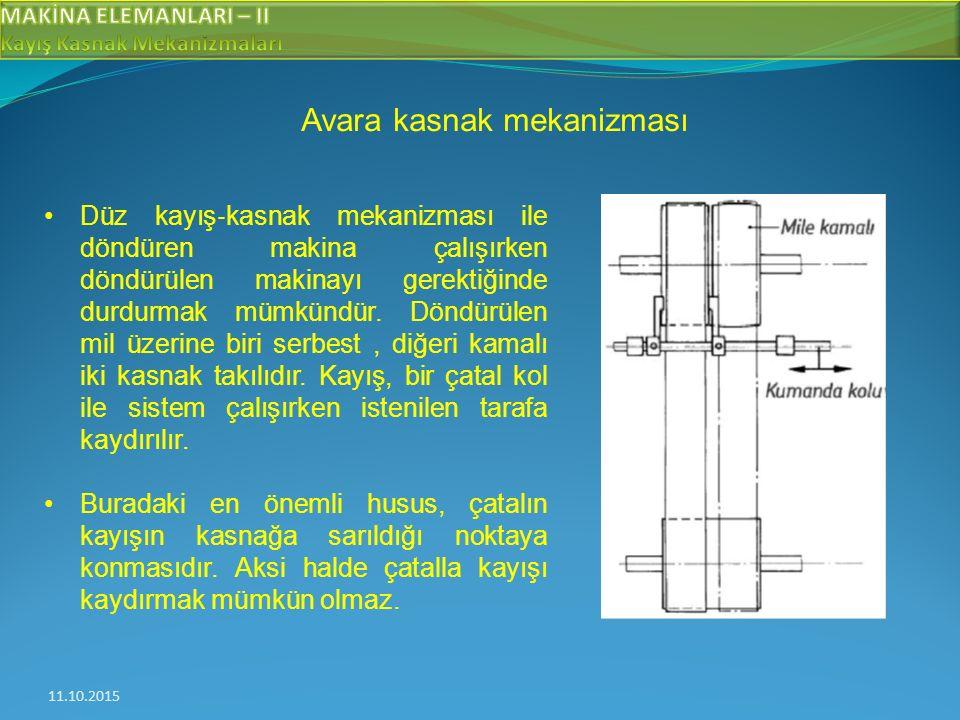 Avara kasnak mekanizması