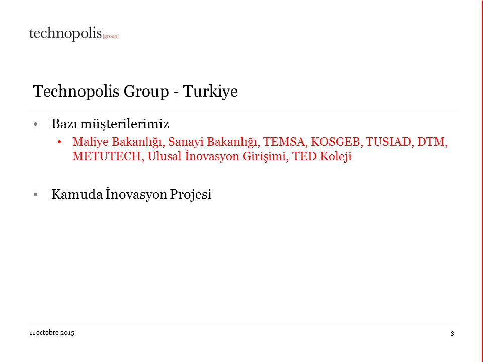 Technopolis Group - Turkiye