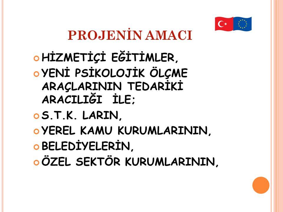 PROJENİN AMACI HİZMETİÇİ EĞİTİMLER,