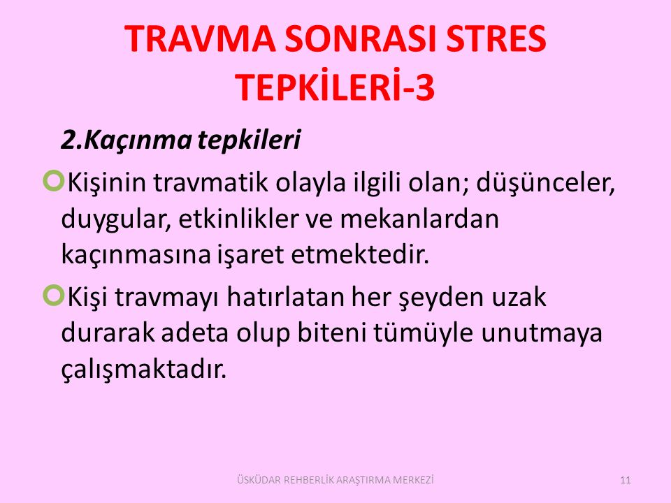 TRAVMA SONRASI STRES TEPKİLERİ-3