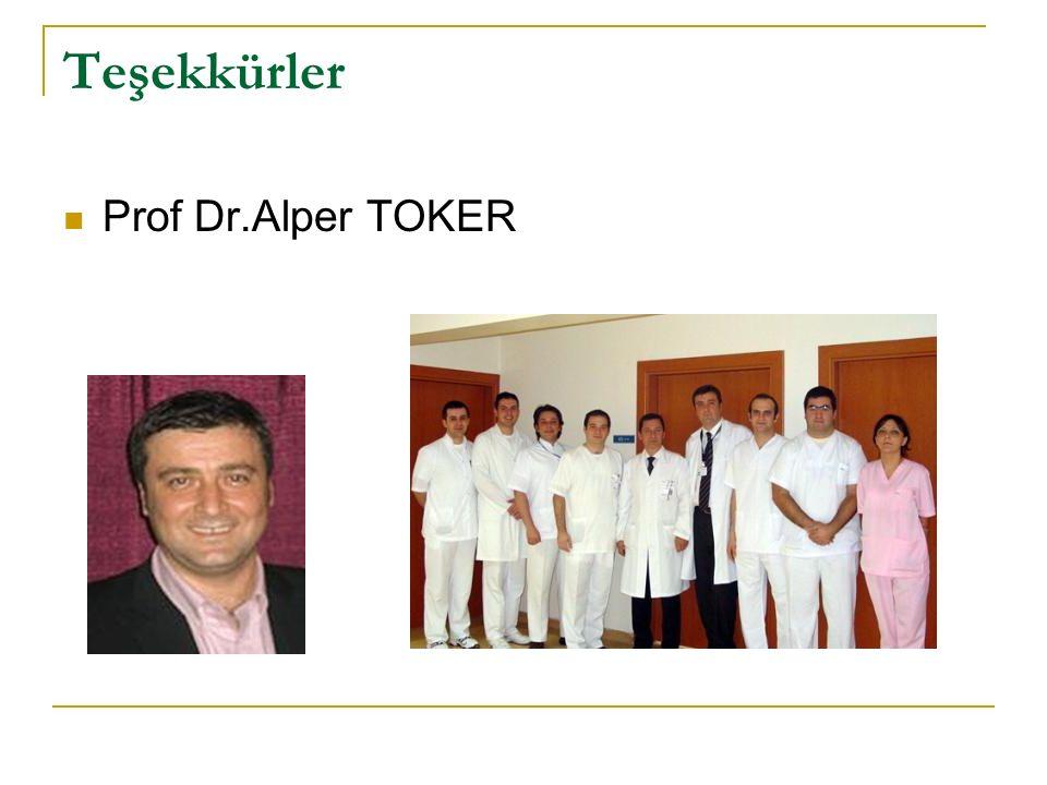 Teşekkürler Prof Dr.Alper TOKER