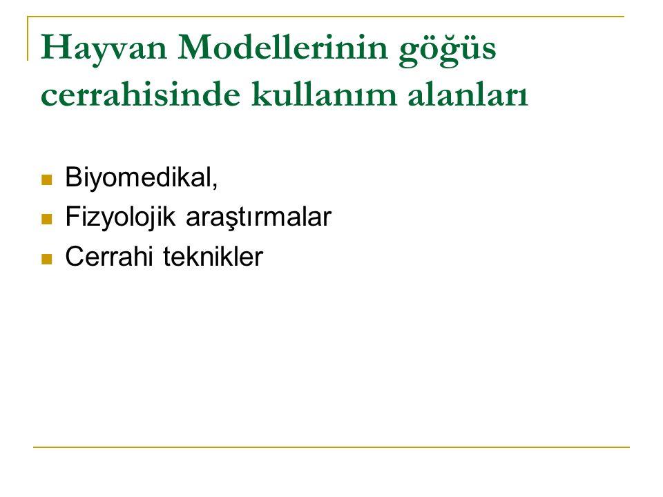 Hayvan Modellerinin göğüs cerrahisinde kullanım alanları