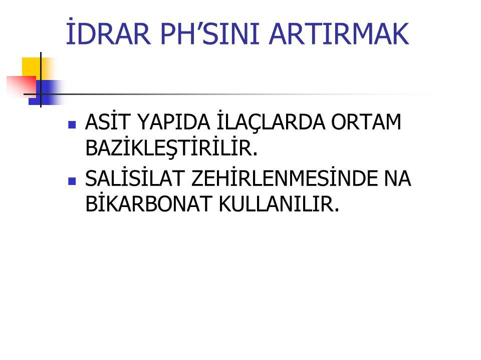İDRAR PH'SINI ARTIRMAK
