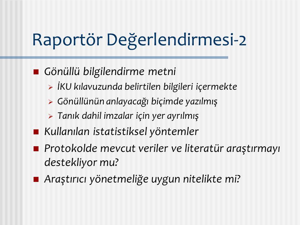 Raportör Değerlendirmesi-2