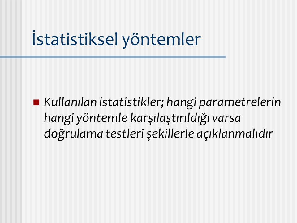 İstatistiksel yöntemler