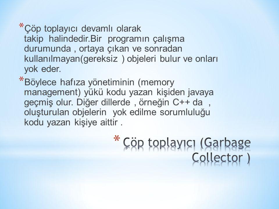 Çöp toplayıcı (Garbage Collector )