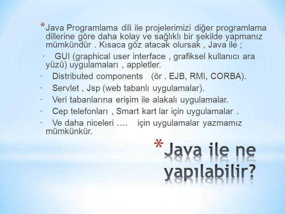 Java ile ne yapılabilir