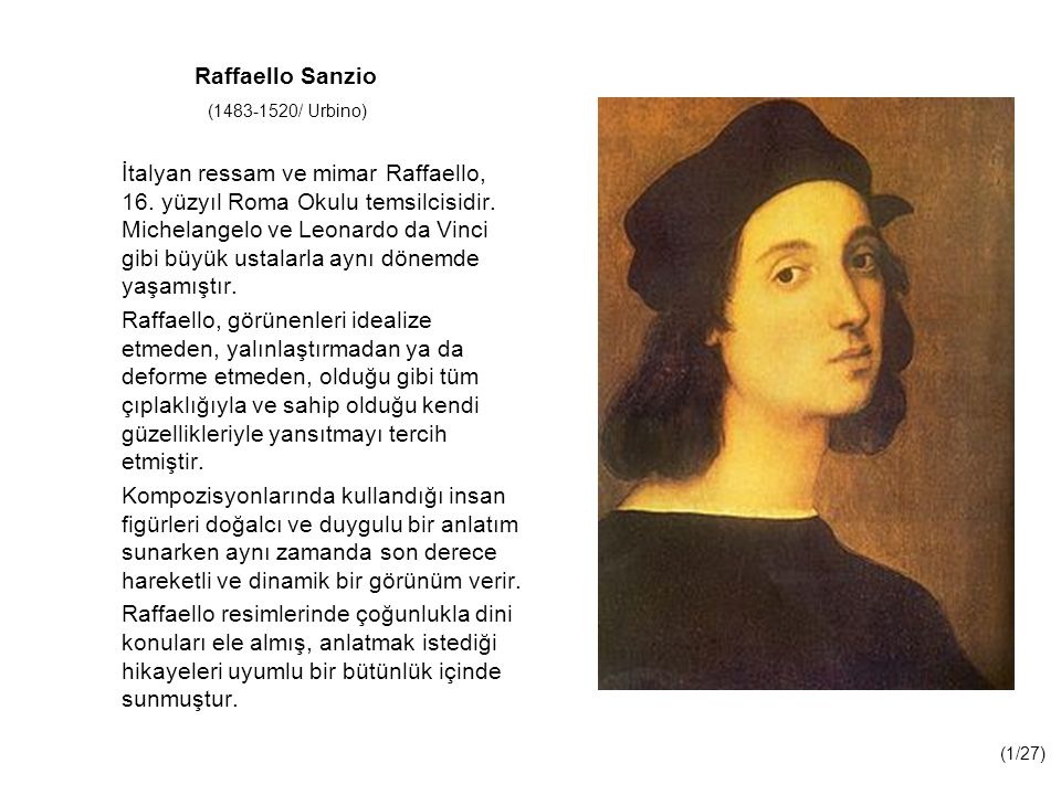 Raffaello Sanzio (1483-1520/ Urbino)
