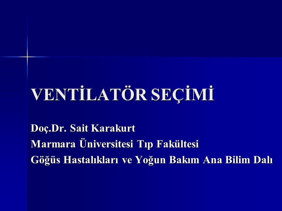 VENTİLATÖR SEÇİMİ Doç.Dr. Sait Karakurt
