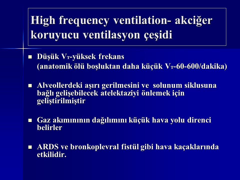 High frequency ventilation- akciğer koruyucu ventilasyon çeşidi