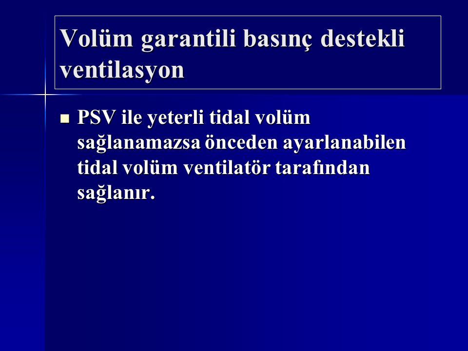 Volüm garantili basınç destekli ventilasyon