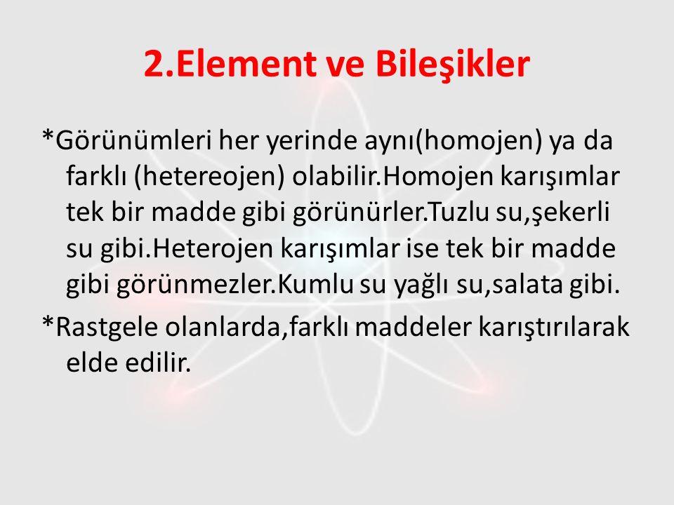 2.Element ve Bileşikler