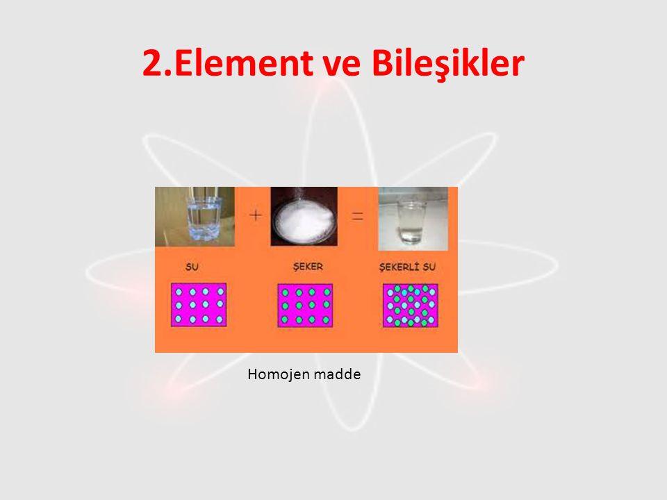 2.Element ve Bileşikler Homojen madde