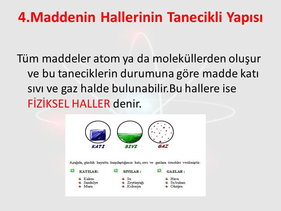 4.Maddenin Hallerinin Tanecikli Yapısı