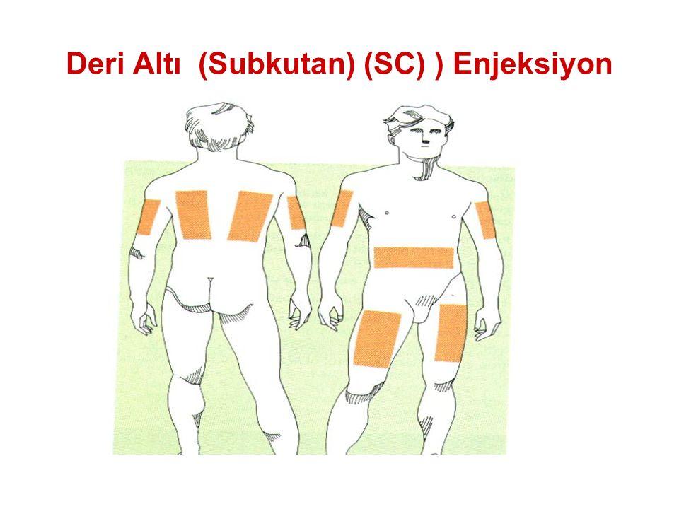 Deri Altı (Subkutan) (SC) ) Enjeksiyon