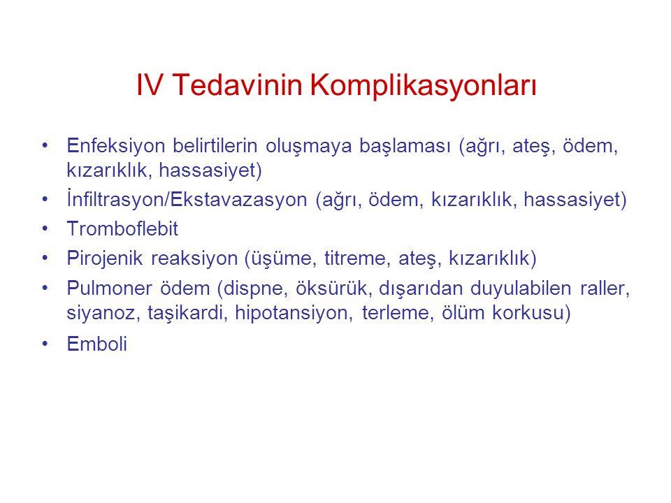 IV Tedavinin Komplikasyonları