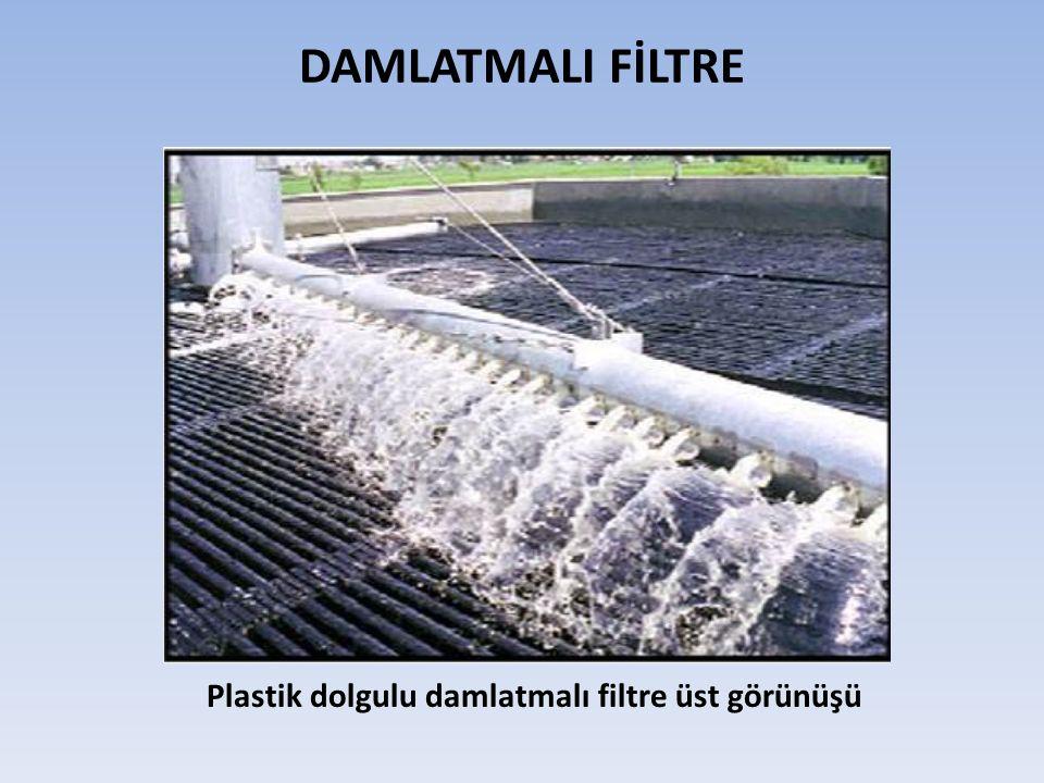 DAMLATMALI FİLTRE Plastik dolgulu damlatmalı filtre üst görünüşü